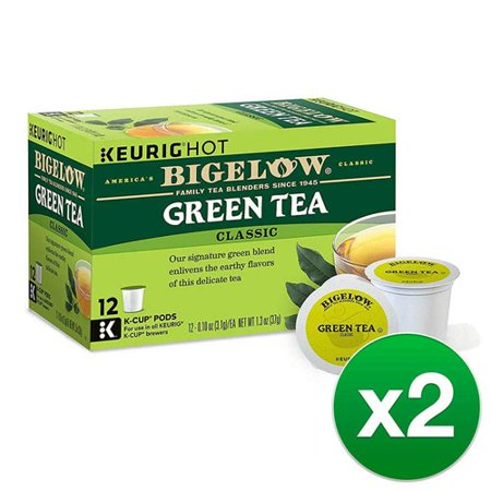 Bigelow Green Tea Keurig K-Cups, Box of 12 Cups (Pack of (Two Cups Of Green Tea A Day)