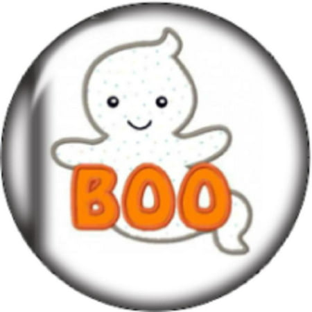 Snap button Halloween Boo Ghost 18mm Cabochon chunk charm (Chunk Ideas Halloween)