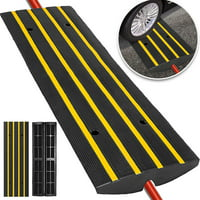 VEVOR 1 Channel Car Driveway Rubber Curb Ramps Heavy Duty 22000lbs Capacity