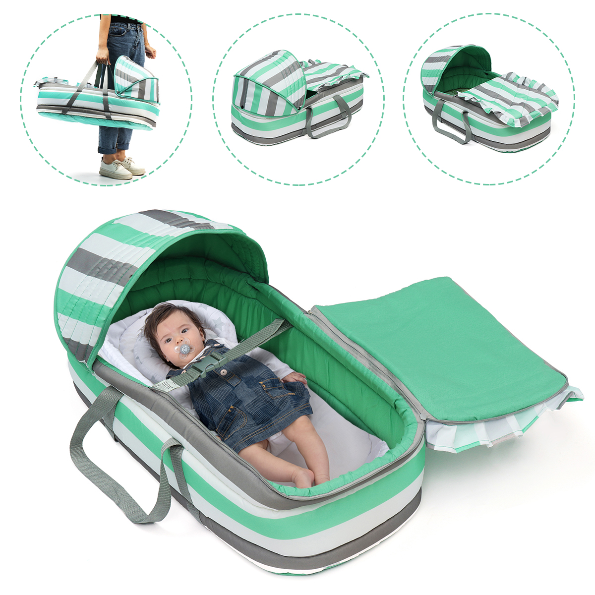 Baby Bed & Baby Lounger Basket Basket Bedside Sleeper ...