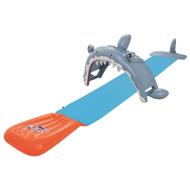 H2OGO! Shark Attack Waterslide w  Speed Ramp by Bestway Toys Domestic