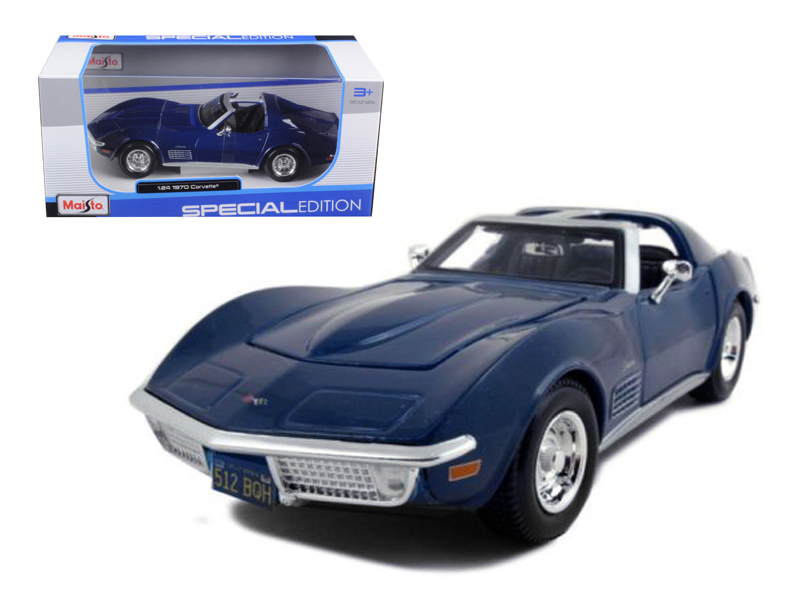1970 Chevrolet Corvette Blue 1 24 Diecast Model Car by Maisto by Diecast Dropshipper