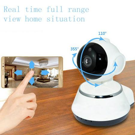 Night Vision Wireless Pan Tilt wirelessipcamera HD 720P IP WiFi Camera Home Security Video Recorder CCTV Network (Network Camera Recorder)