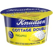 Knudsen Low Fat 2% Milkfat Cottage Cheese Doubles with Pineapple Topping, 4.7 oz Cup