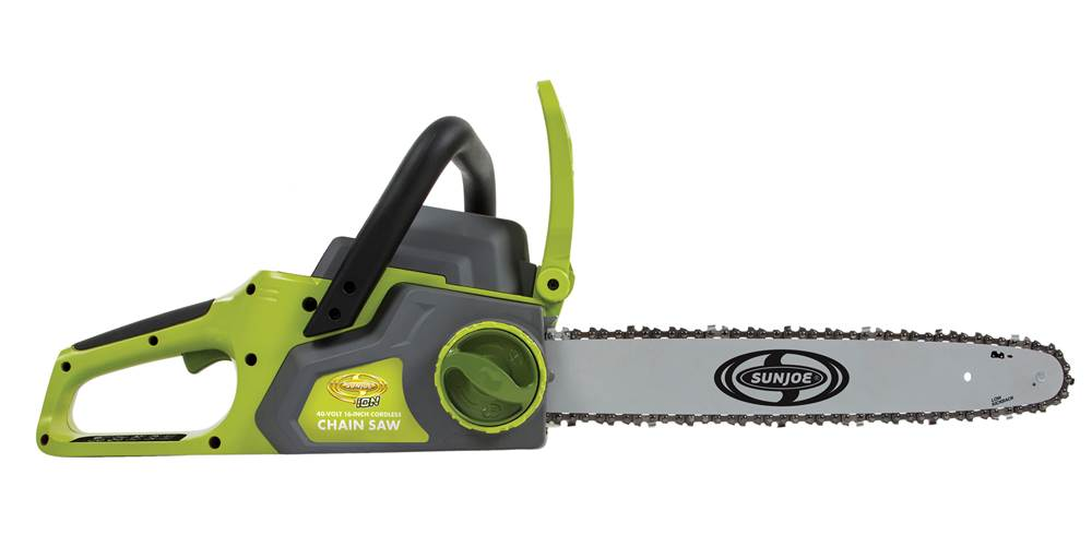 16 in. Chain Saw with Brushless Motor in Green and Black by Snow Joe