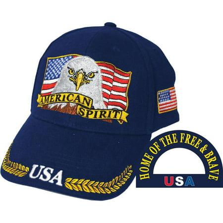 American Spirit Bald Eagle Hat -