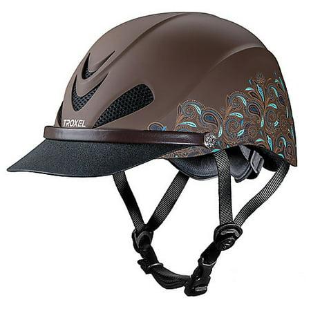 Troxel Low Profile Dakota Helmet S Turquoise Pais Leather Helmet Bib