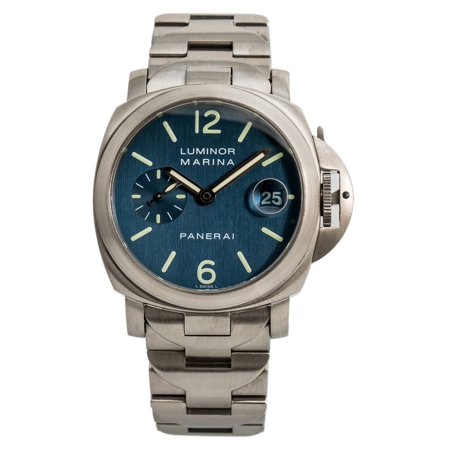 Panerai Marina - Pre-Owned Panerai Luminor Marina PAM00120 Steel 40mm  Watch (Certified Authentic & Warranty)