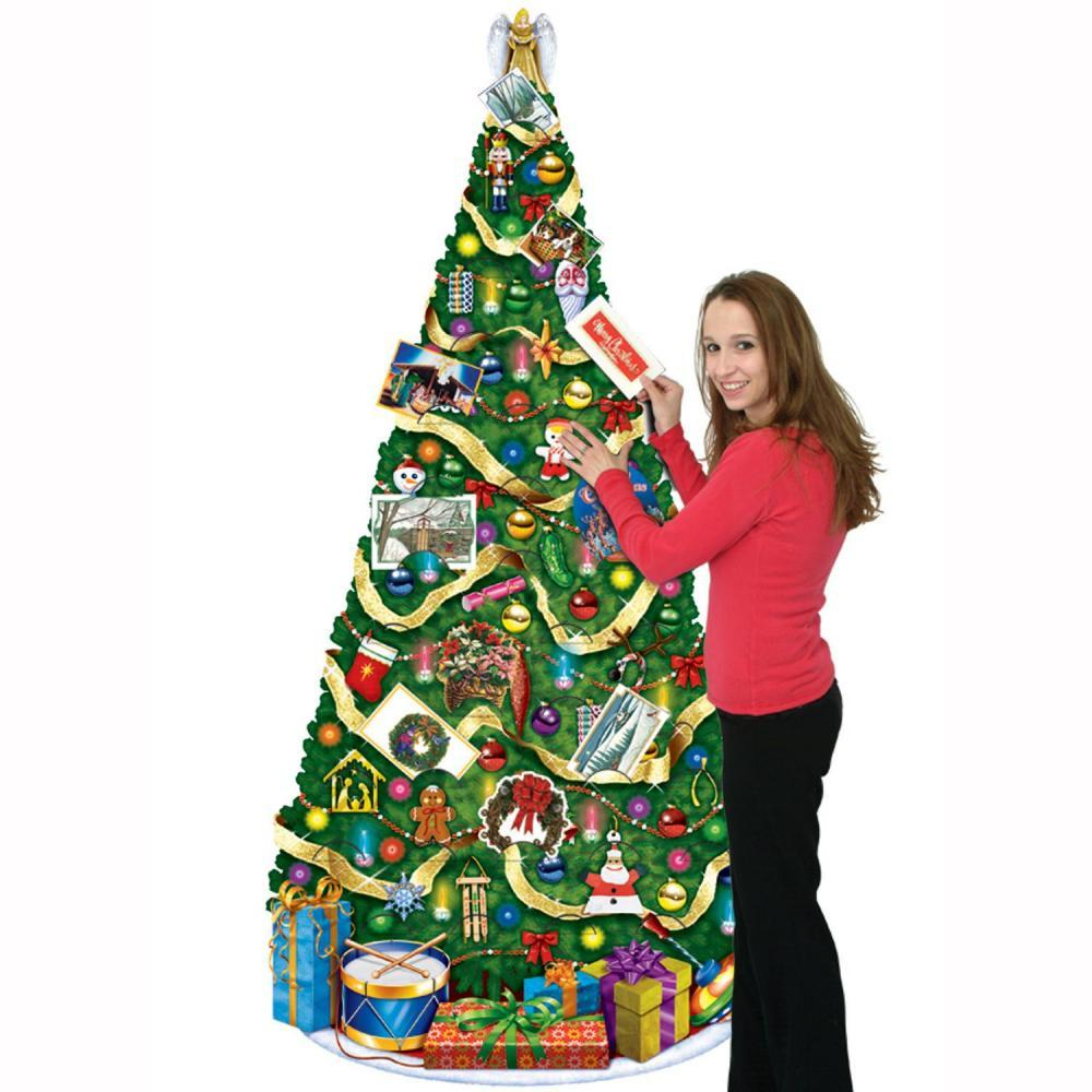 (Pack of 12) Jointed Christmas Tree slotted to hold greeting cards