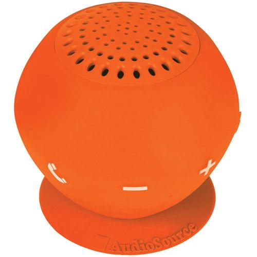 AudioSource SP2ORA Sound pOp 2 Water-Resistant Bluetooth Speaker, Orange by AudioSource