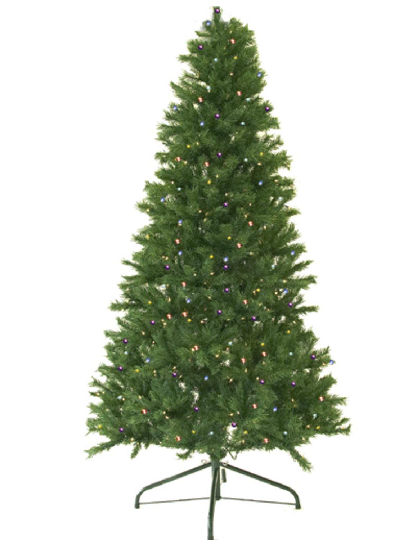 9\' Pre-Lit Canadian Pine Artificial Christmas Tree - Multi LED Lights