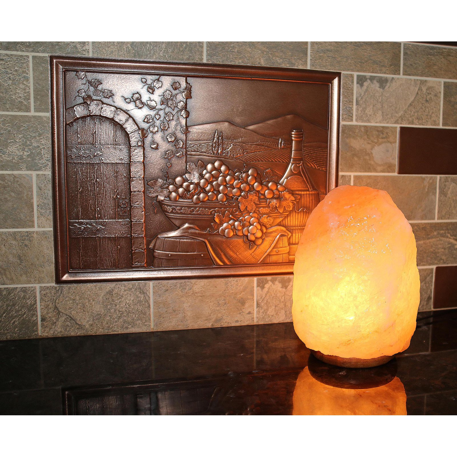 Image of Accentuations by Manhattan Comfort Natural Shaped Himalayan Salt Lamp with Dimmer