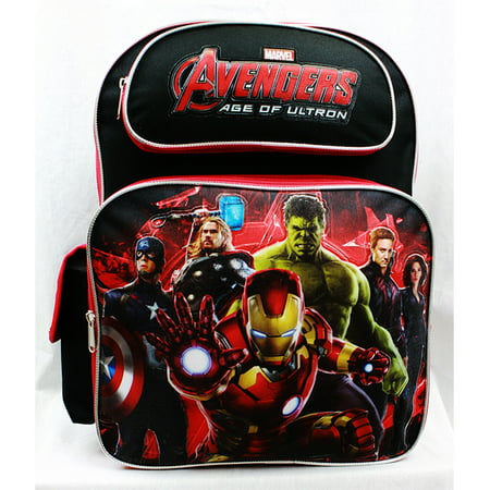 Backpack - - Avengers All Heroes Black/Red School Bag New a01334