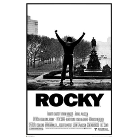 Rocky black and white philadelphia boxing film movie poster 24x36 inch