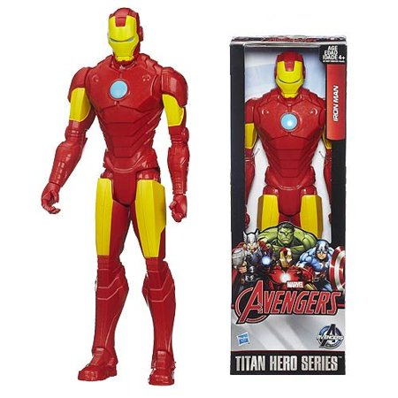 B1667 Avn   Titan Hero Iron Man 8  Nothing On Earth Is More Powerful Than The Incredible Iron Man  His Supersonic Suit Blasts Through The Sky Armed    By Hasbro
