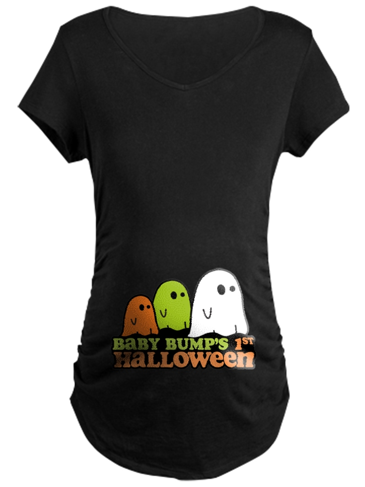 ba73bf668d1e6 CafePress - Baby Bump's 1St Halloween - Maternity Dark T-Shirt ...