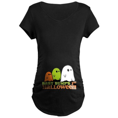 CafePress - Baby Bump's 1St Halloween Maternity Dark T Shirt - Maternity Dark T-Shirt - Maternity Halloween Tshirt