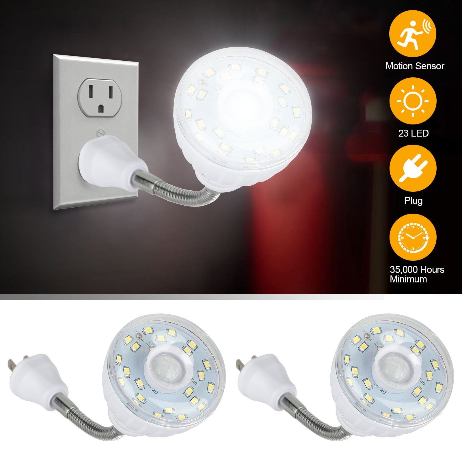 Details about  /Kids Bedroom Home Wall Corridor Motion Sensor LED Night Light Battery Operated