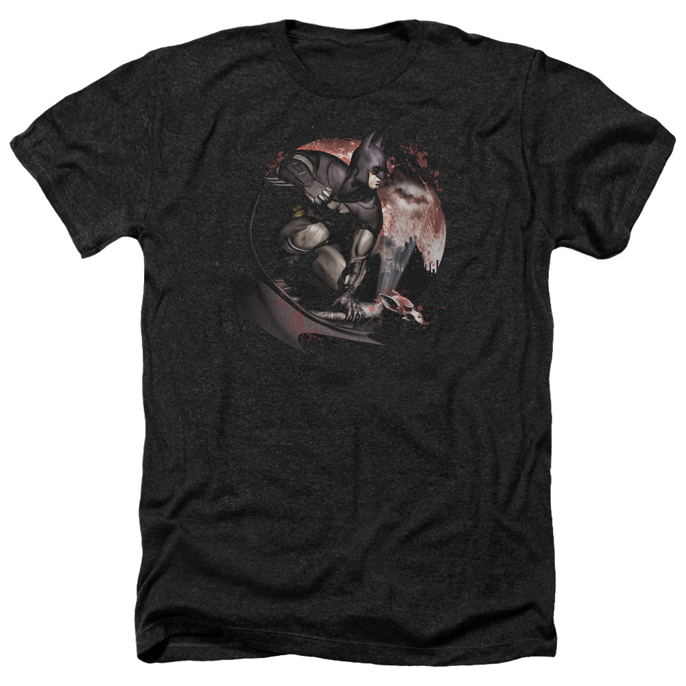 Arkham City Blood Moon Mens Heather Shirt
