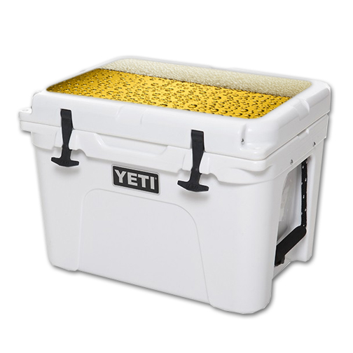 MightySkins Protective Vinyl Skin Decal for YETI Tundra 35 qt Cooler Lid wrap cover sticker skins Beer Buzz