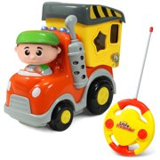 Garbage Truck Remote Control Toy - My First RC Car for Toddlers & Kids with Lights & Sounds