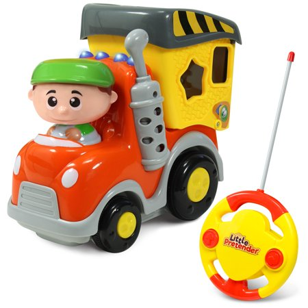 Garbage Truck Remote Control Toy - My First RC Car for Toddlers & Kids with Lights & Sounds (My Little Pony Remote Control Car)