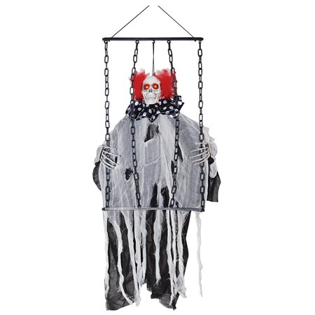 Animated Hanging Clown w/ Chains Halloween Décor