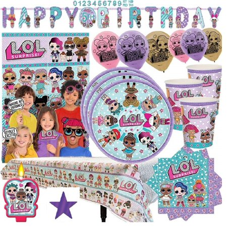 LOL Surprise Super Birthday Party Pack for 16 Guests - 16 Party