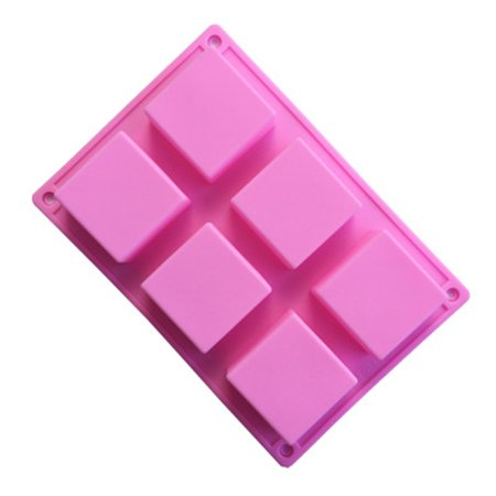 6 Cavities Silicone Soap Mold (1 Pack), Baking Mold Cake Pan, Biscuit Chocolate Mold, Ice Cube Tray - Halloween Chocolate Tray Bake