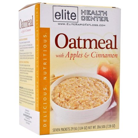 Elite Health Center High Protein Oatmeal, 15 Grams Protein, Low Sugar, Low Fat - Apple Cinnamon, 7-Count Box