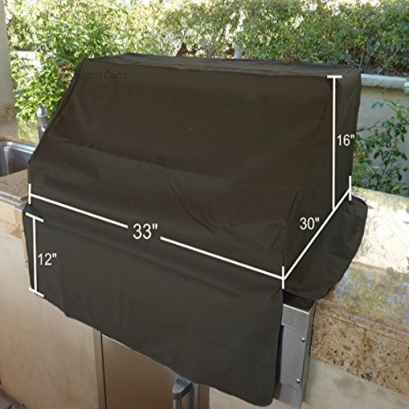 Formosa Covers BBQ built-in grill black cover up to 33""