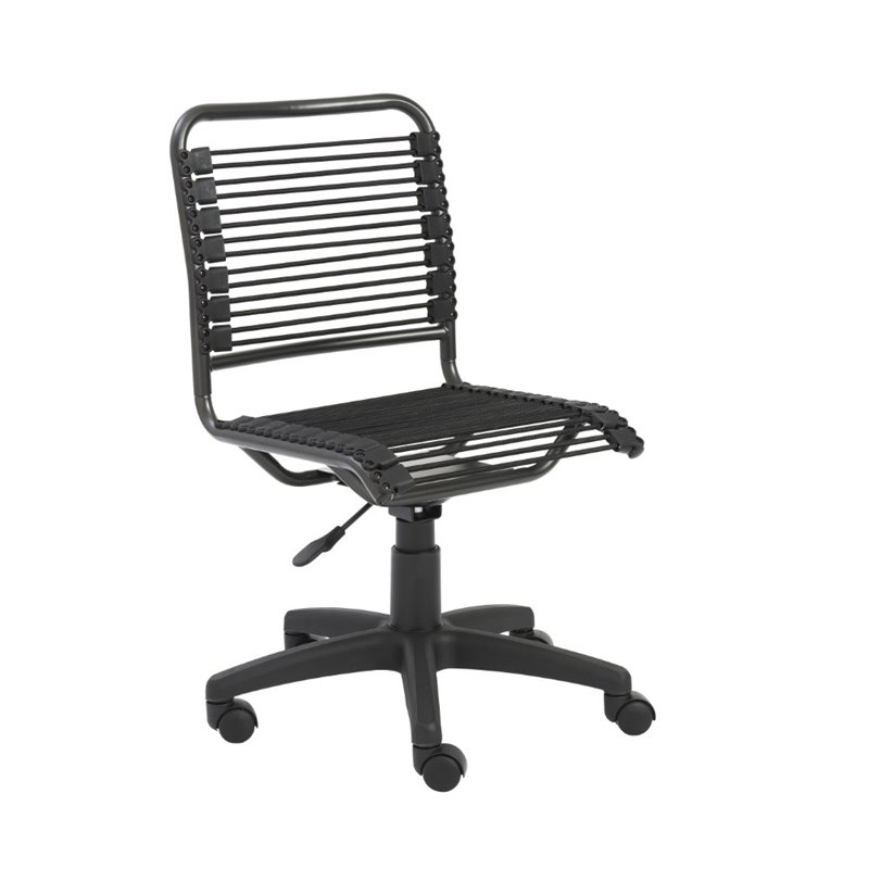 Brika Home Low Back Office Chair in Black