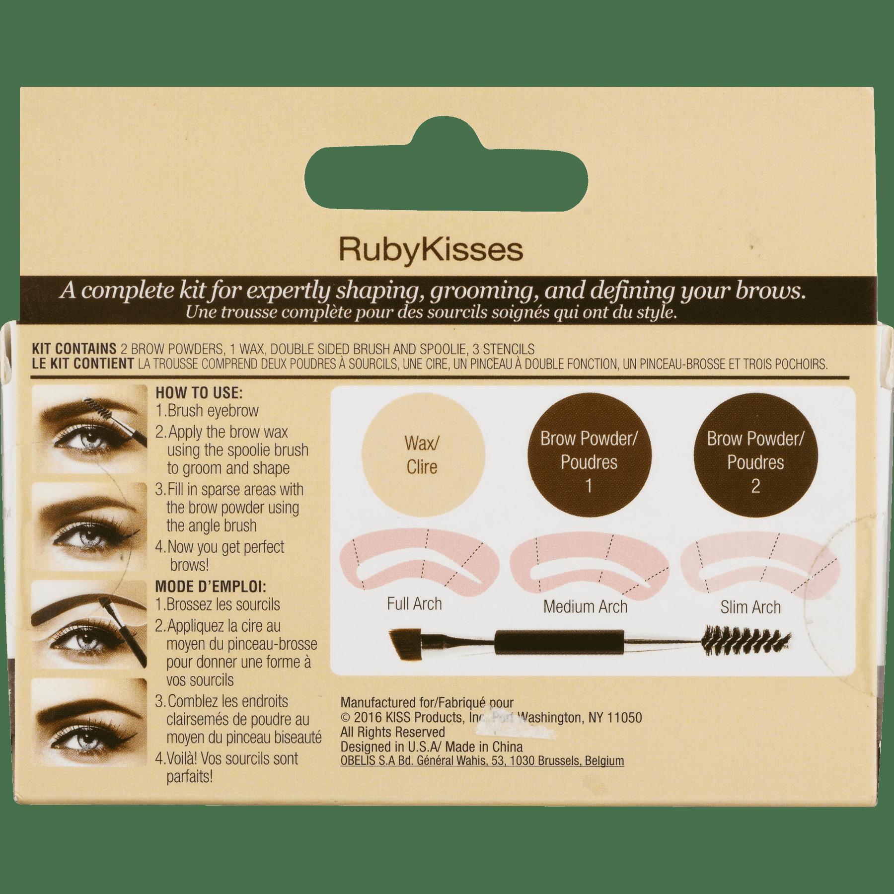 Rk By Kiss Eyebrow Kit Black Dark Brown 10 Ct Walmart