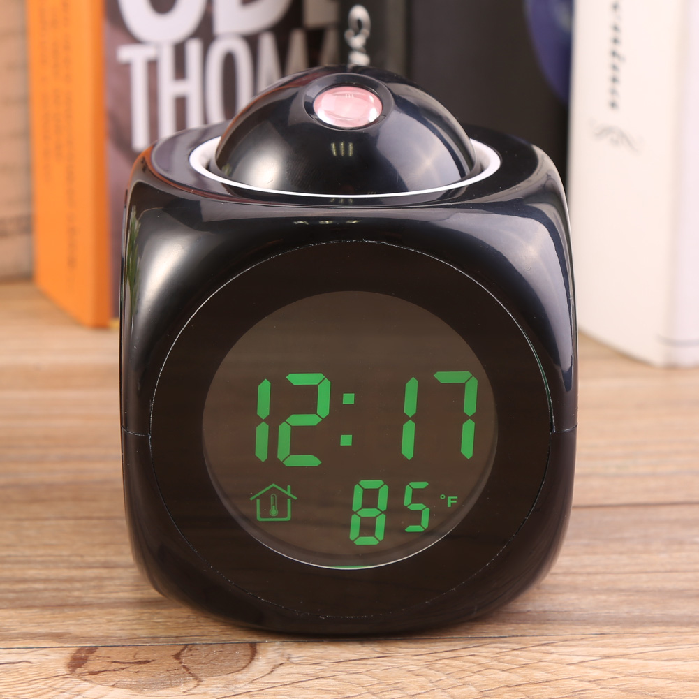 Led Projection Alarm Clock Multi Function Lcd Wall