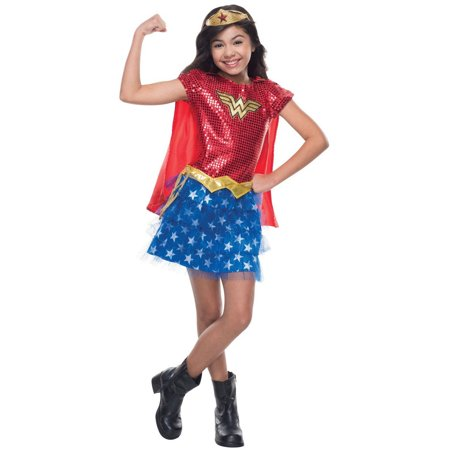 Sequin Wonder Woman Toddler Halloween Costume, 3T-4T - Wonder Woman Halloween Costume Toddler