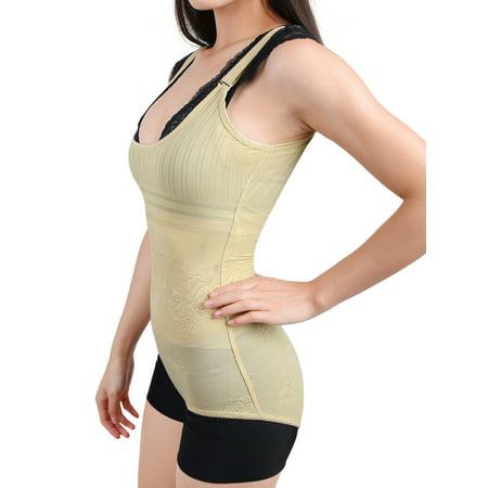 L Women Lady Shapewear Firm Control Tummy Slimmer Full Body Shaper Bodysuit