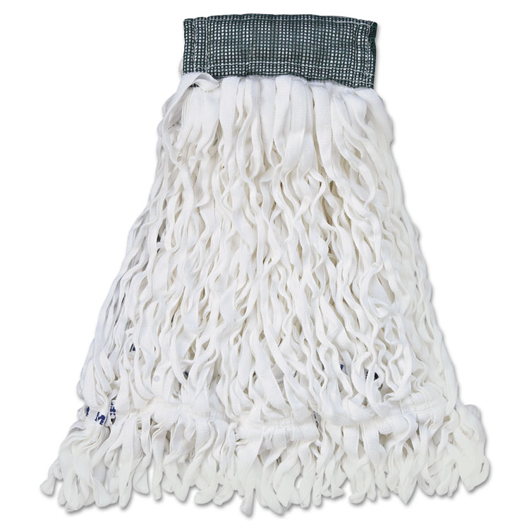 Clean Room Mop Head, Rayon, Loop-End, Medium, White, 12/carton