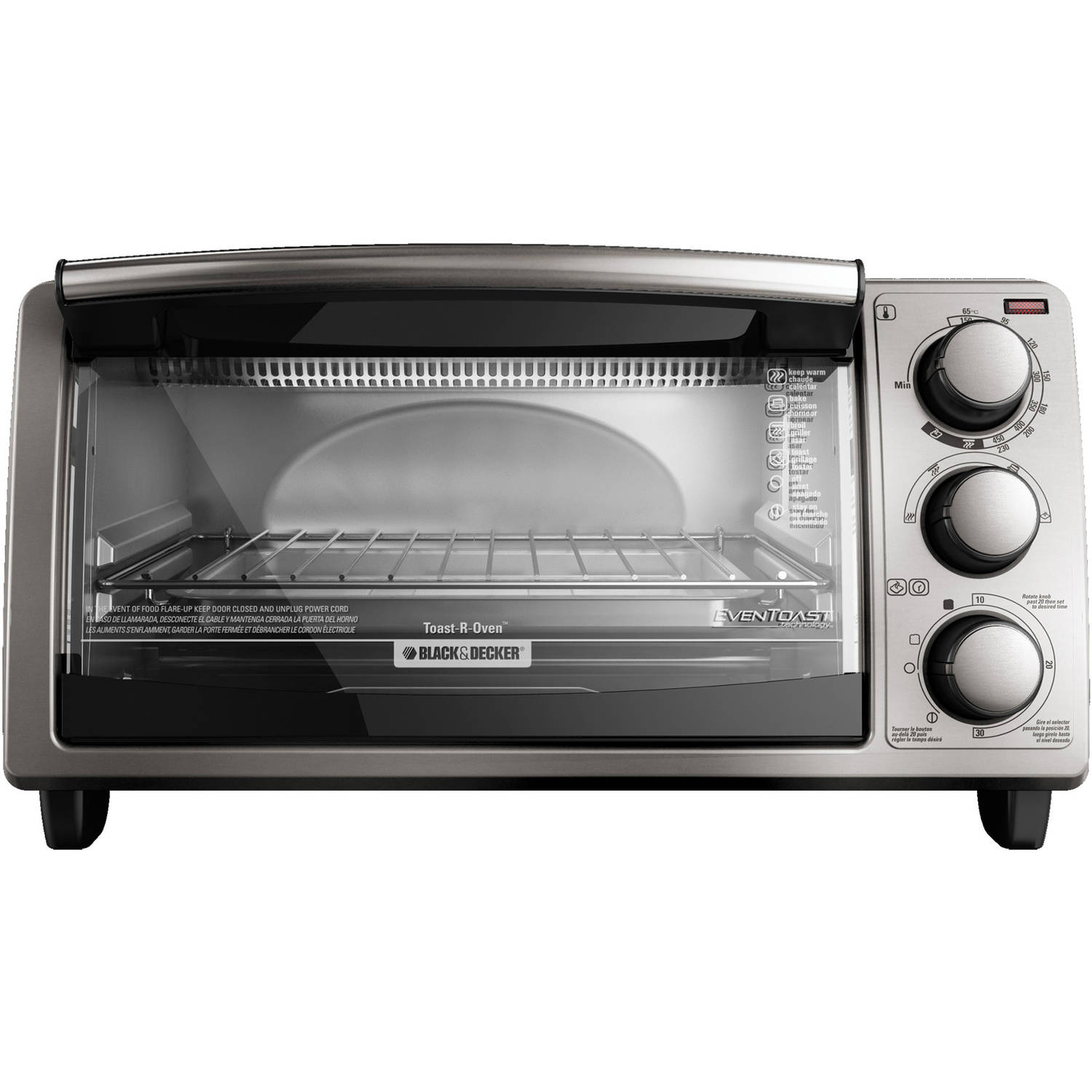 BLACK+DECKER 4-Slice Toaster Oven, Silver, TO1373SSD | eBay