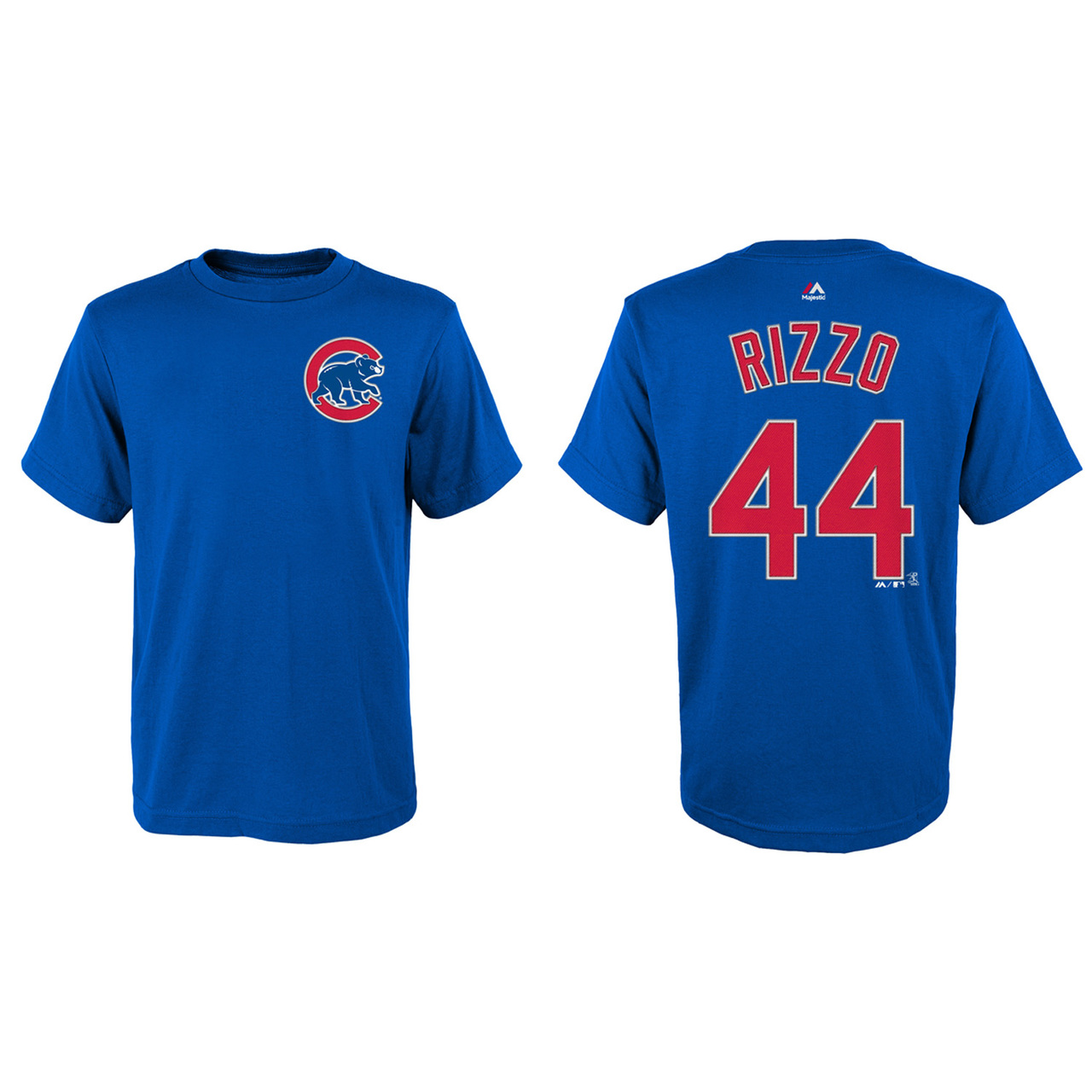Chicago Cubs Youth Anthony Rizzo Name and Number T-Shirt - Royal #44