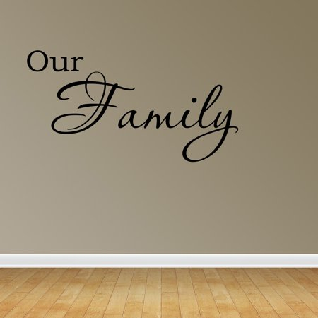 Wall Decal Quote Our Family Removable Sign Lettering Bedroom Sticker Decor R97 ()