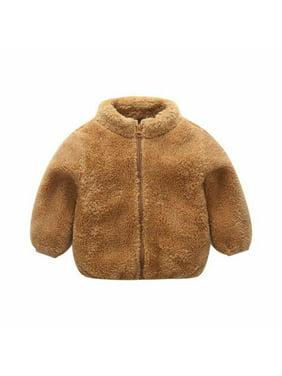 Kids Baby Girl Boy Winter Warm Coat Fleece Thick Hooded Windproof Jacket Outwear New