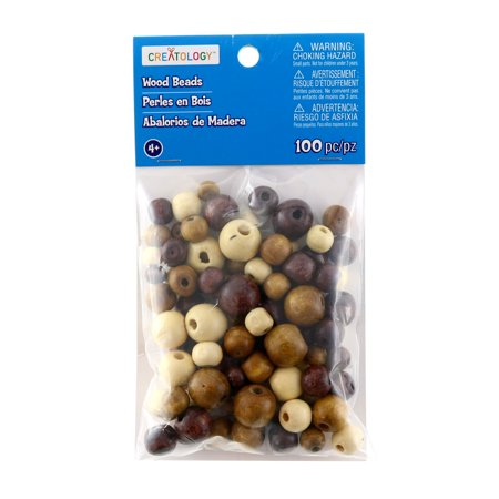 Clubhouse Crafts Wood Pony Beads, 90 pack (Sulyn Clubhouse Crafts Bead)