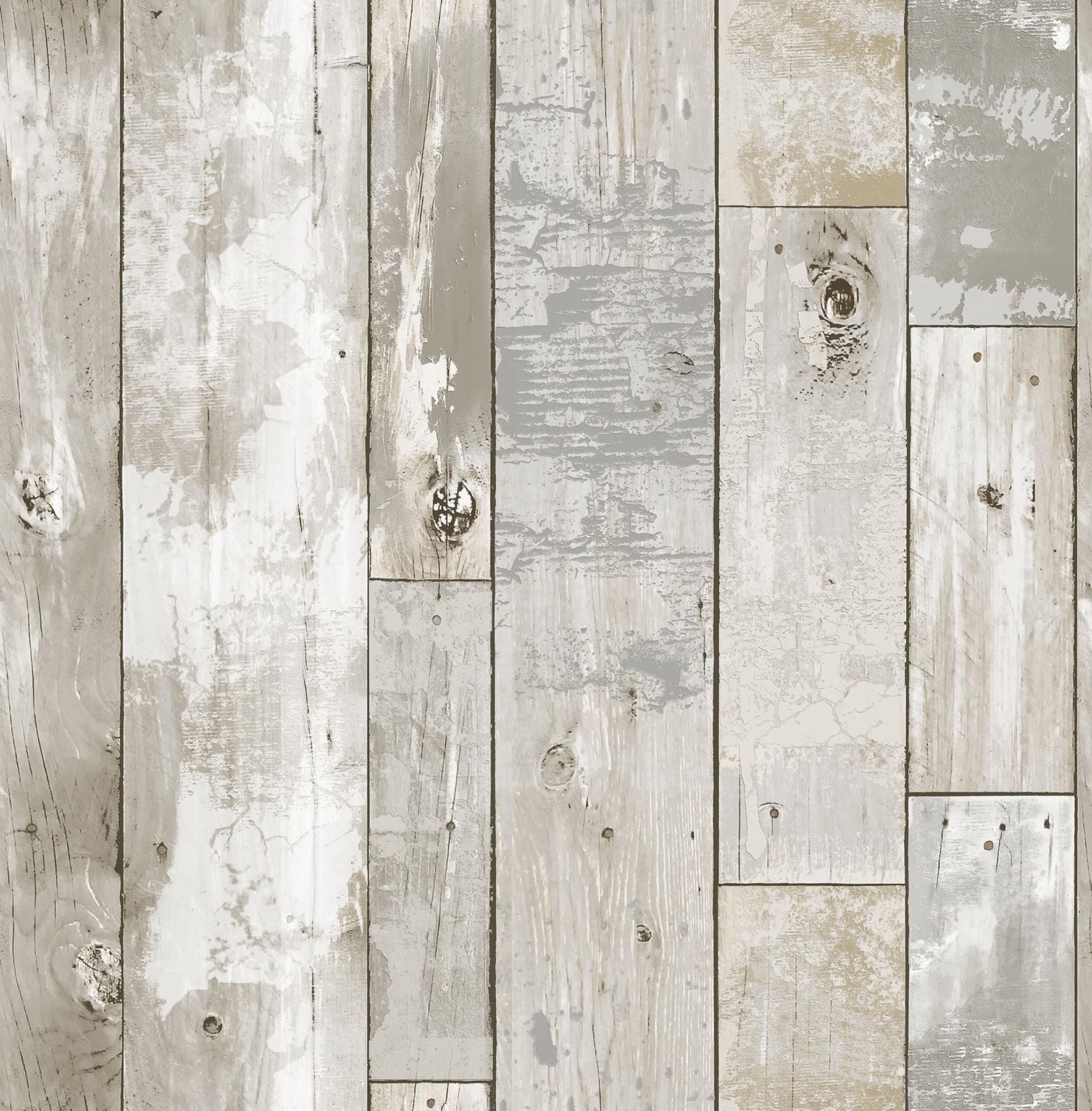 Inhome Driftwood Peel Stick Wallpaper Walmart Com Walmart Com