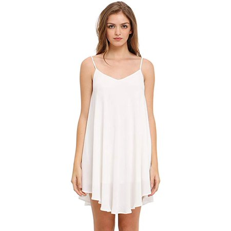 Women's Summer Spaghetti Strap Sundress Sleeveless Beach Slip Dress