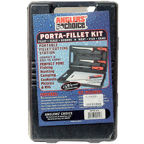 Anglers Choice Ac 5Pc Portable Fillet Kit W/Case - PFTK-414