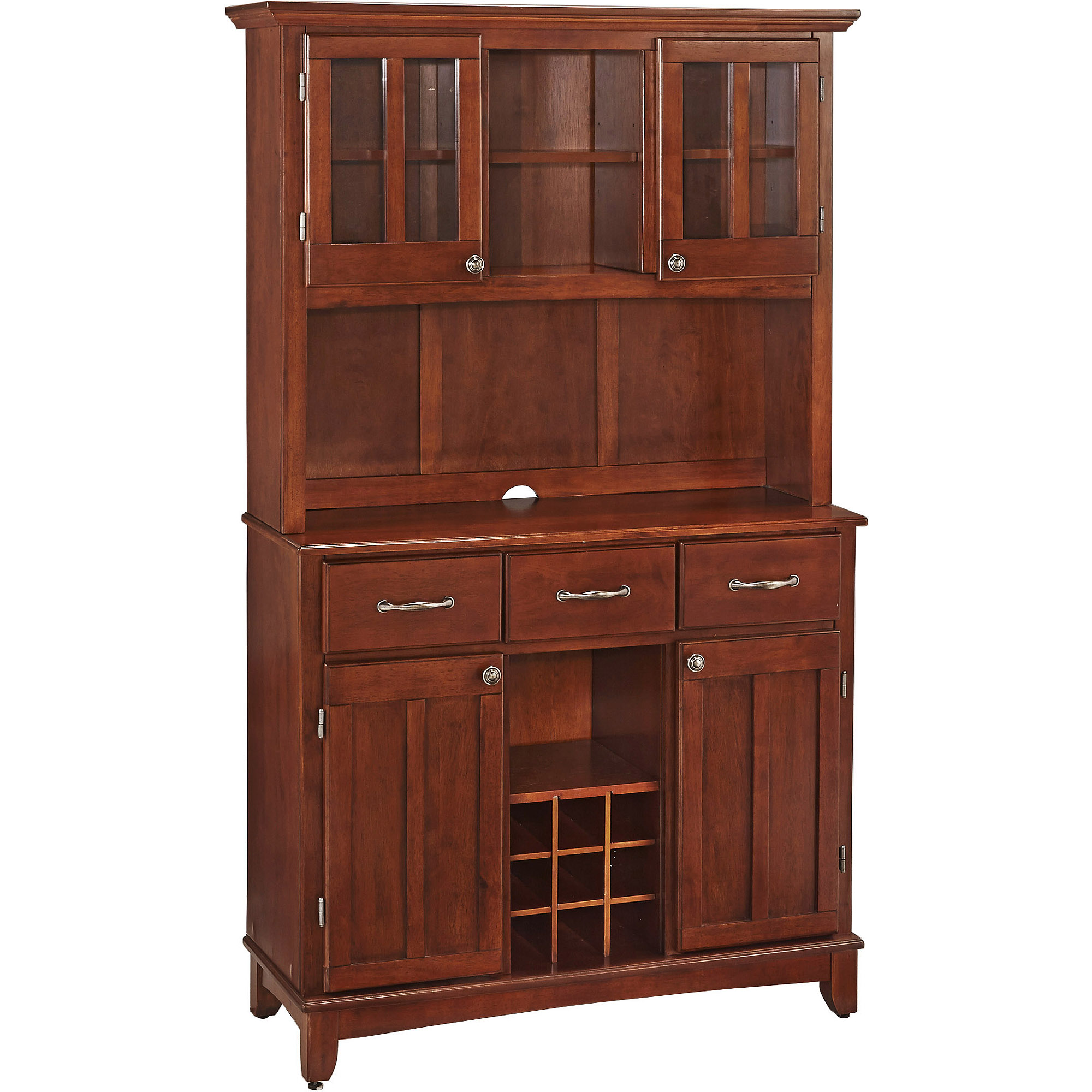 Home Styles Large Buffet & Two-Door Hutch, Cherry Finish