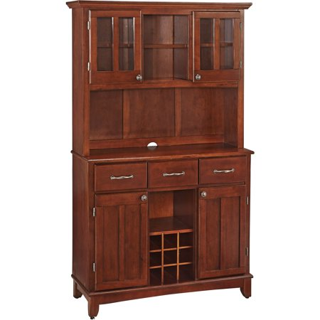 Home Styles Large Buffet Amp Two Door Hutch Cherry Finish
