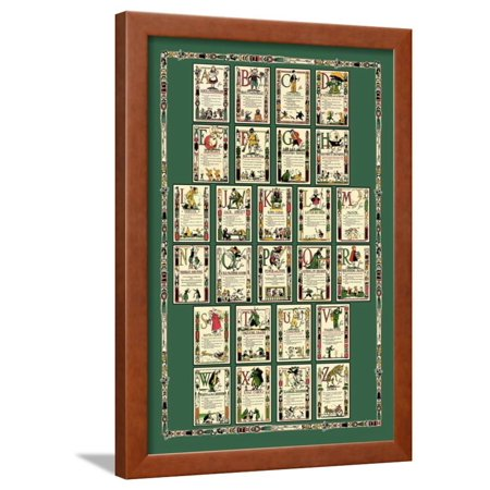 Alphabet Composite Sheet Framed Print Wall Art By Tony Sarge Alphabet Name Wood Frame