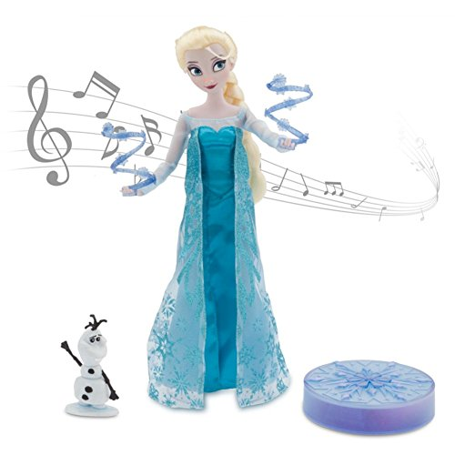 "Disney Frozen Elsa Deluxe Singing Doll Set Olaf - 11"" Sings & Glows"