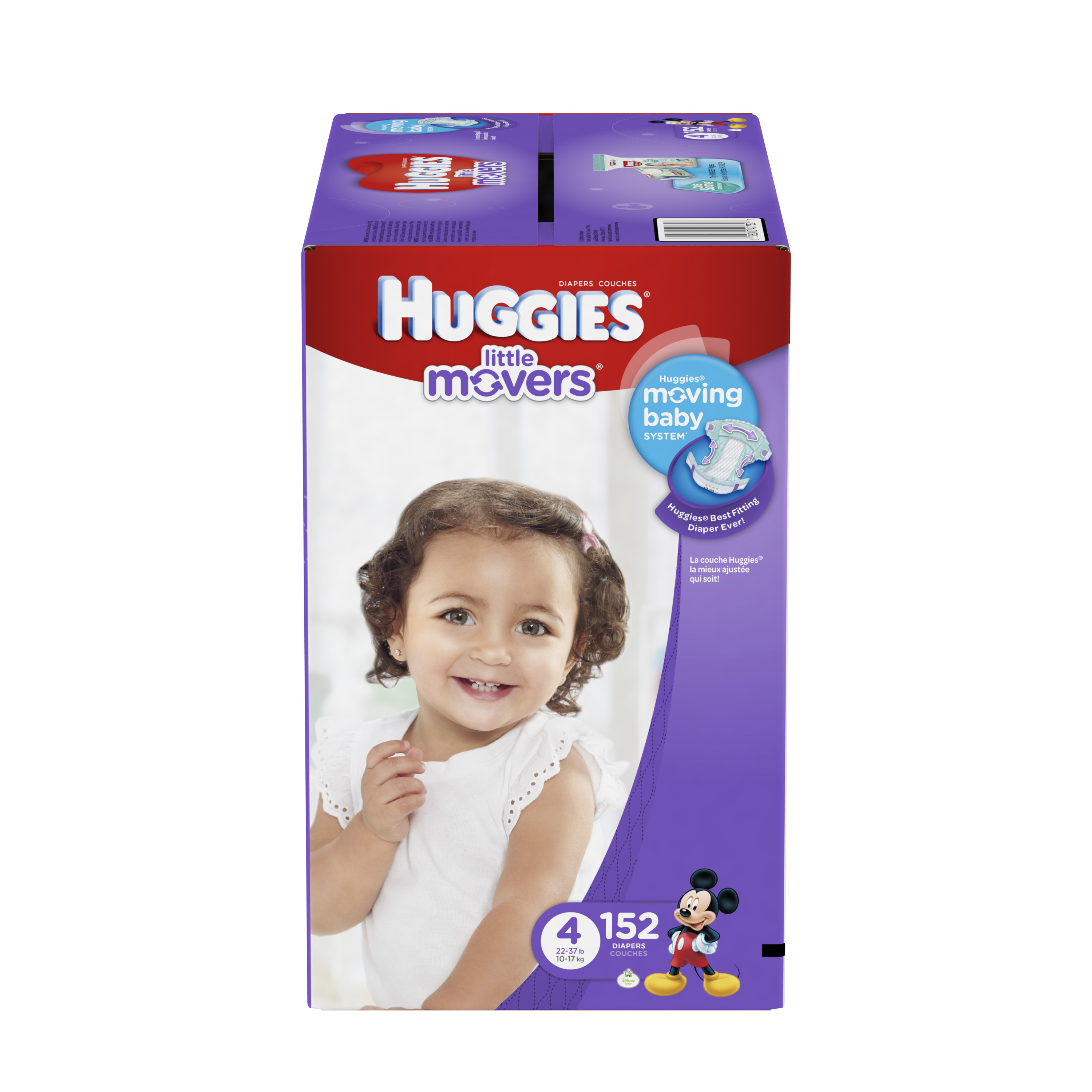 HUGGIES Little Movers Diapers, Size 4, 152 Diapers - Walmart.com